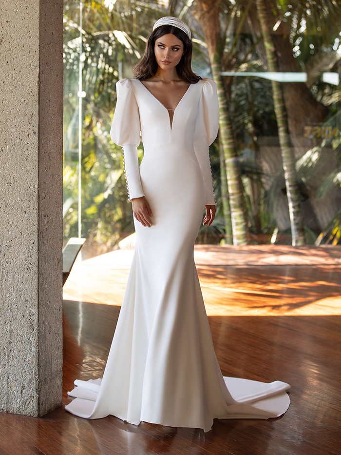 minimal wedding gowns