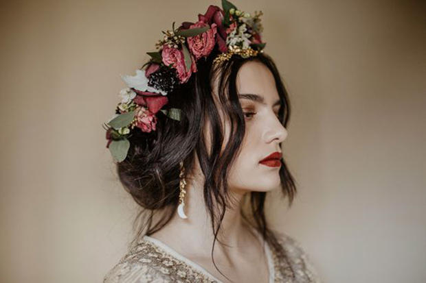winter floral crowns