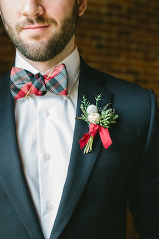 Grooms Christmas Buttonholes