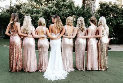 sparkle bridesmaids