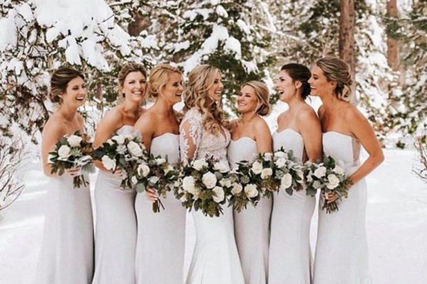 All-White Winter Wedding Inspiration