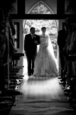 Bride and Father Walking up the Aisle