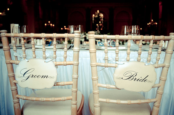 Bride and Groom Chair Name Signs
