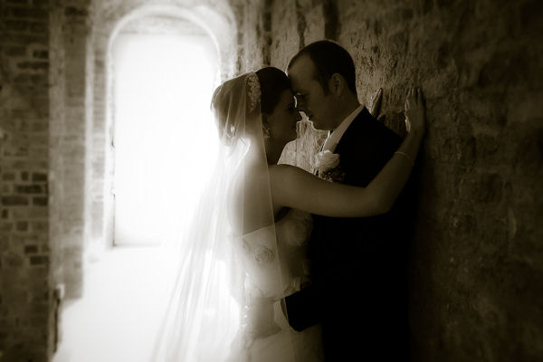 Bride and Groom in Powerscourt House