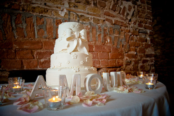 Wedding Cake and Amour Letters