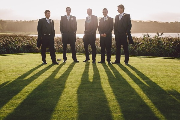Dapper grooms party