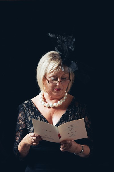 Reading during the ceremony, Waterford Castle