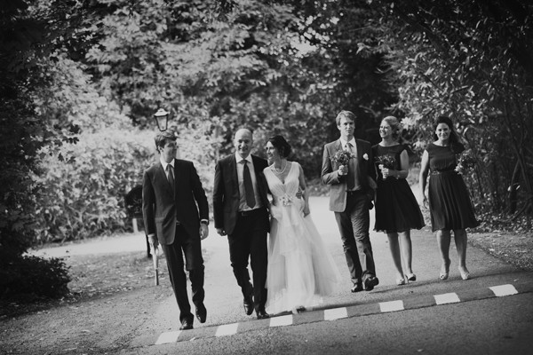 Bridal party at Waterford Castle grounds