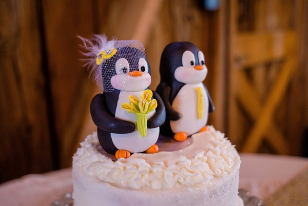 Cute penguin cake toppers