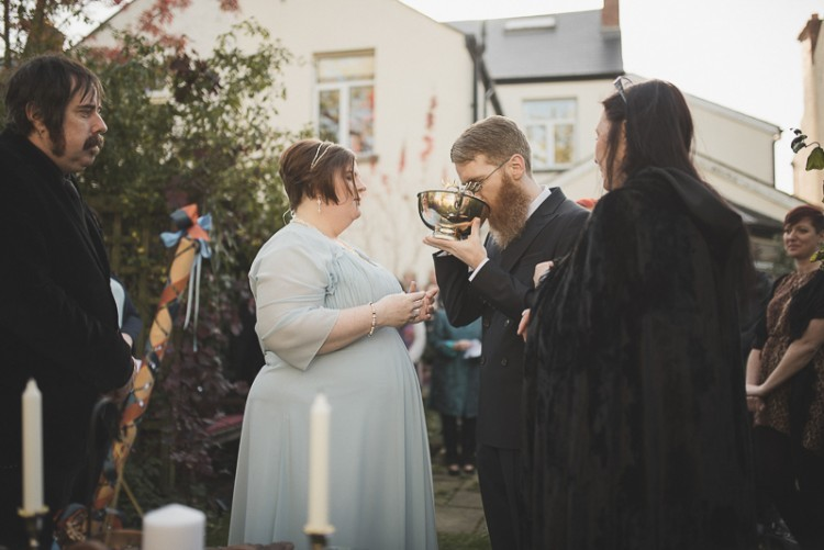 Wiccan Handfasting Wedding With Autumnal Touches