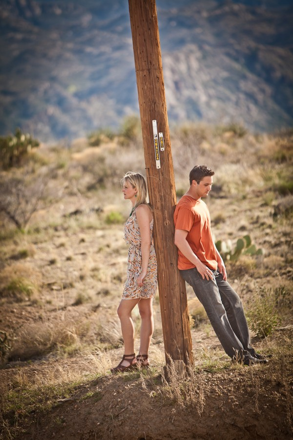 Quirky desert engagement shoot by Photography by Verdi