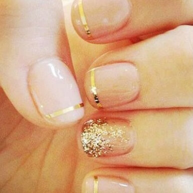 metallic-manicure-negative-space-wedding-nails-pinterest