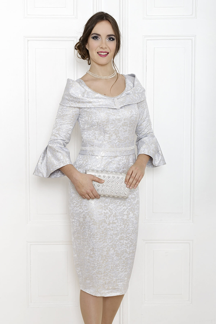 Mother of the bride silver grey outfits