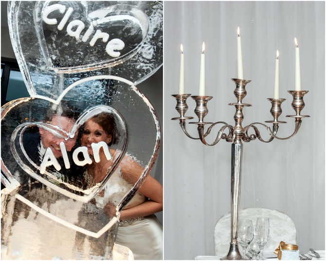 heart ice sculpture wedding