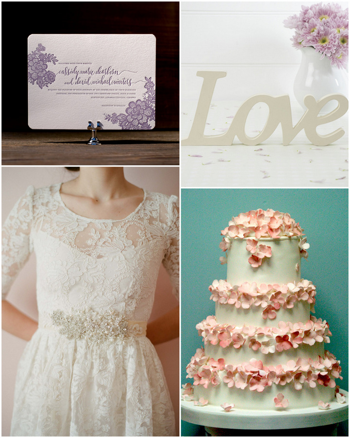 romantic wedding mood board