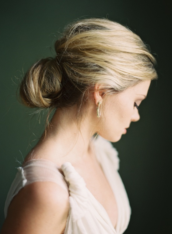 wedding hair low elegant bun