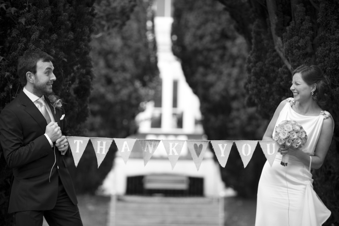 just married bunting photo