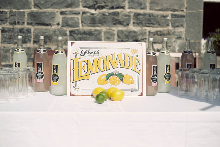 lemonade station yellow wedding