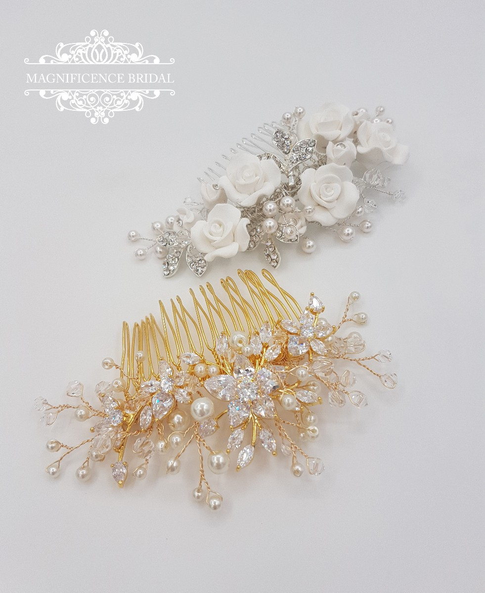 Bridal headpiece, crystal headpiece, Gold headpiece, Rose gold headpiece, wedding headpiece, bridal crystal comb, bridal gold comb, VIOLA