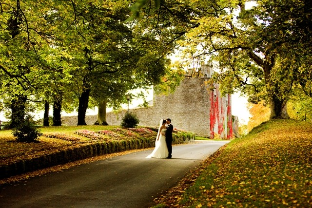 Coming up the Castle's driveway in Autumn