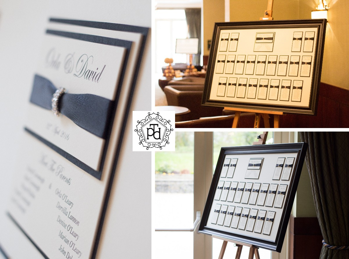 Black Tie Wedding Table Plan @ Fota Island Hotel