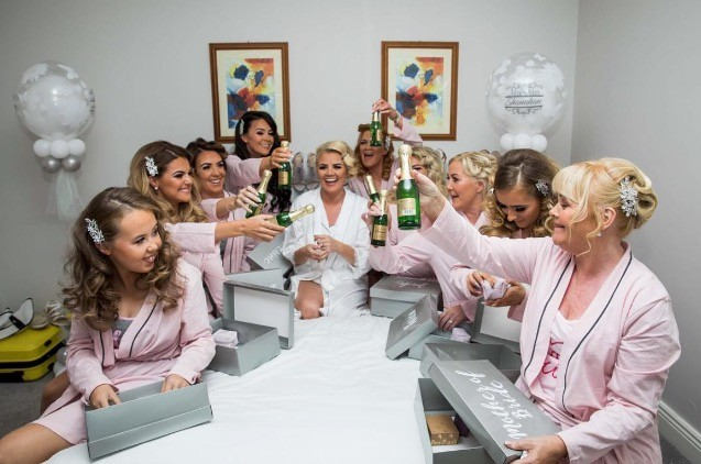 Bridal Party getting ready on 'The Big Day' - plenty of room in The Avon's townhouse-style accommodation