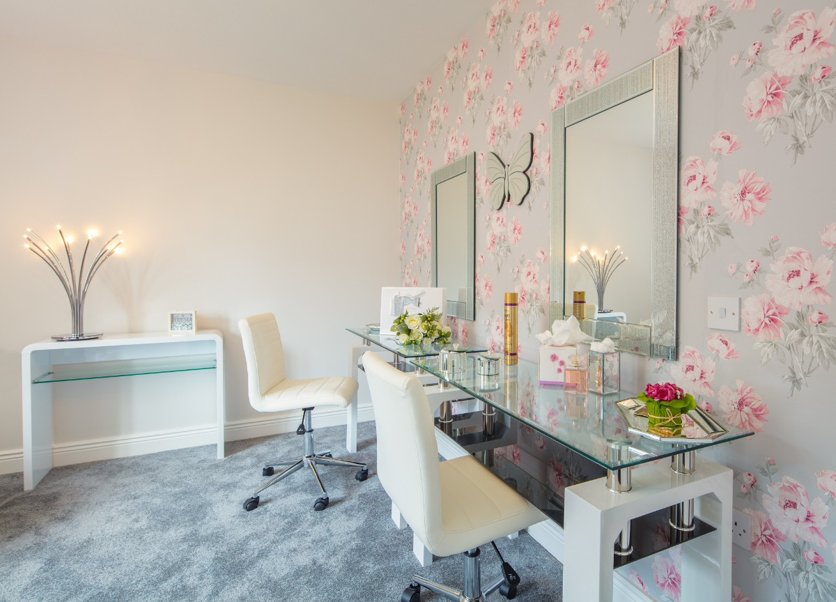 Dressing Table in Bridal House at The Avon Lakeshore Wedding Venue