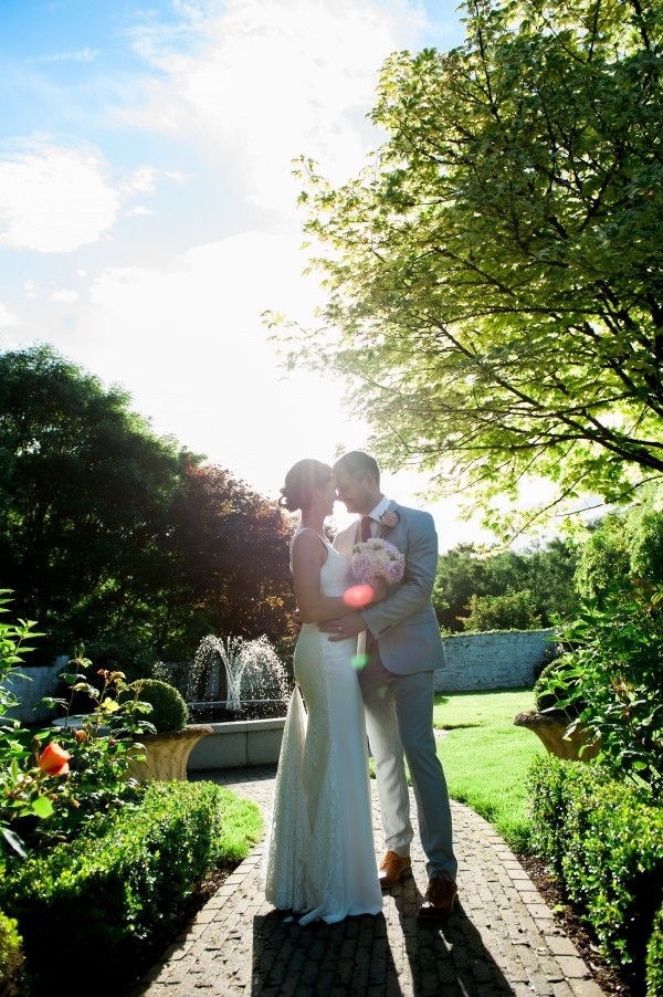 Bride & Groom in the Garden at Conyngham Arms