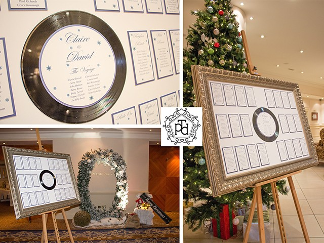 Christmas Wedding Table Plan Theme