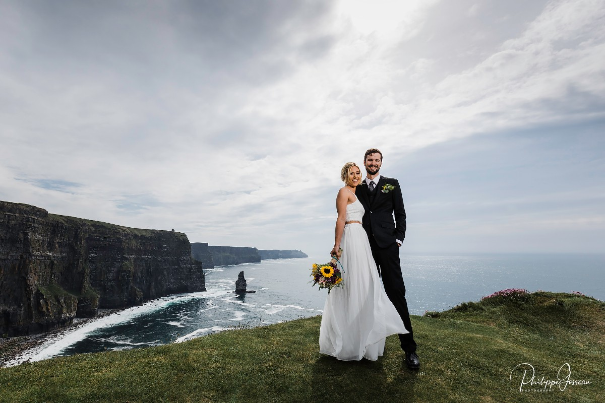 Emily & Jacob's Cliffs of Moher Elopement