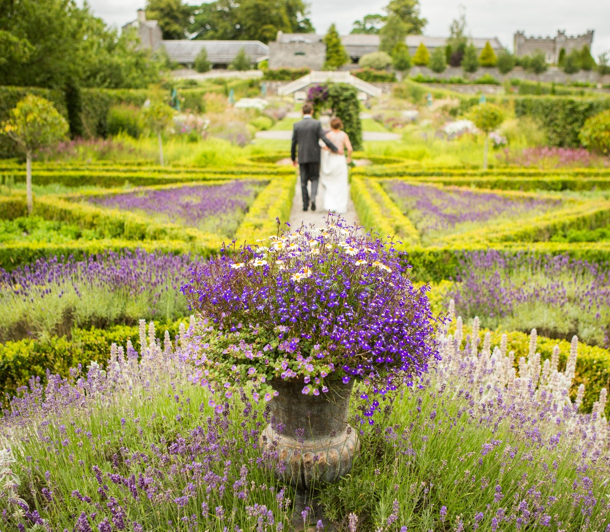 The walled garden at Castle Durrow