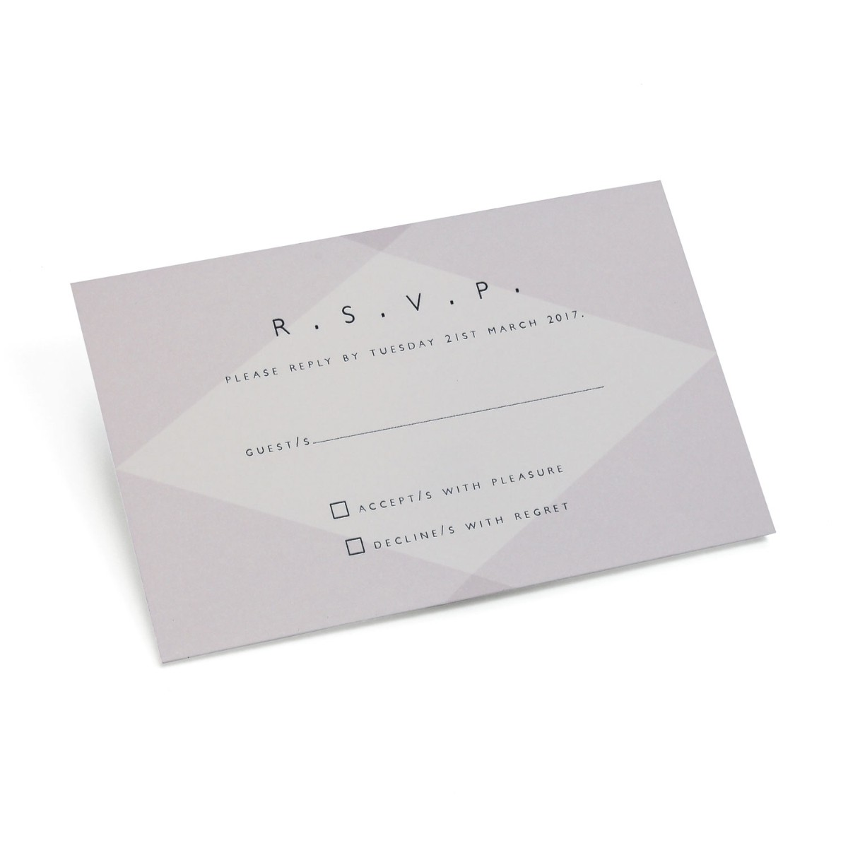 Facet Reply card