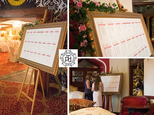 Flower Wedding Table Plan @ Cabra Castle