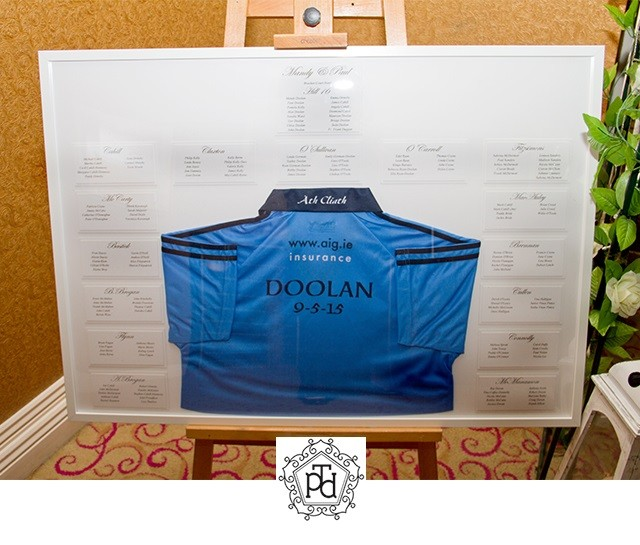 GAA Wedding Table Plan Theme