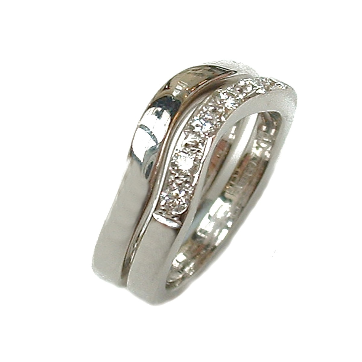Half Moon Curved Double Ring