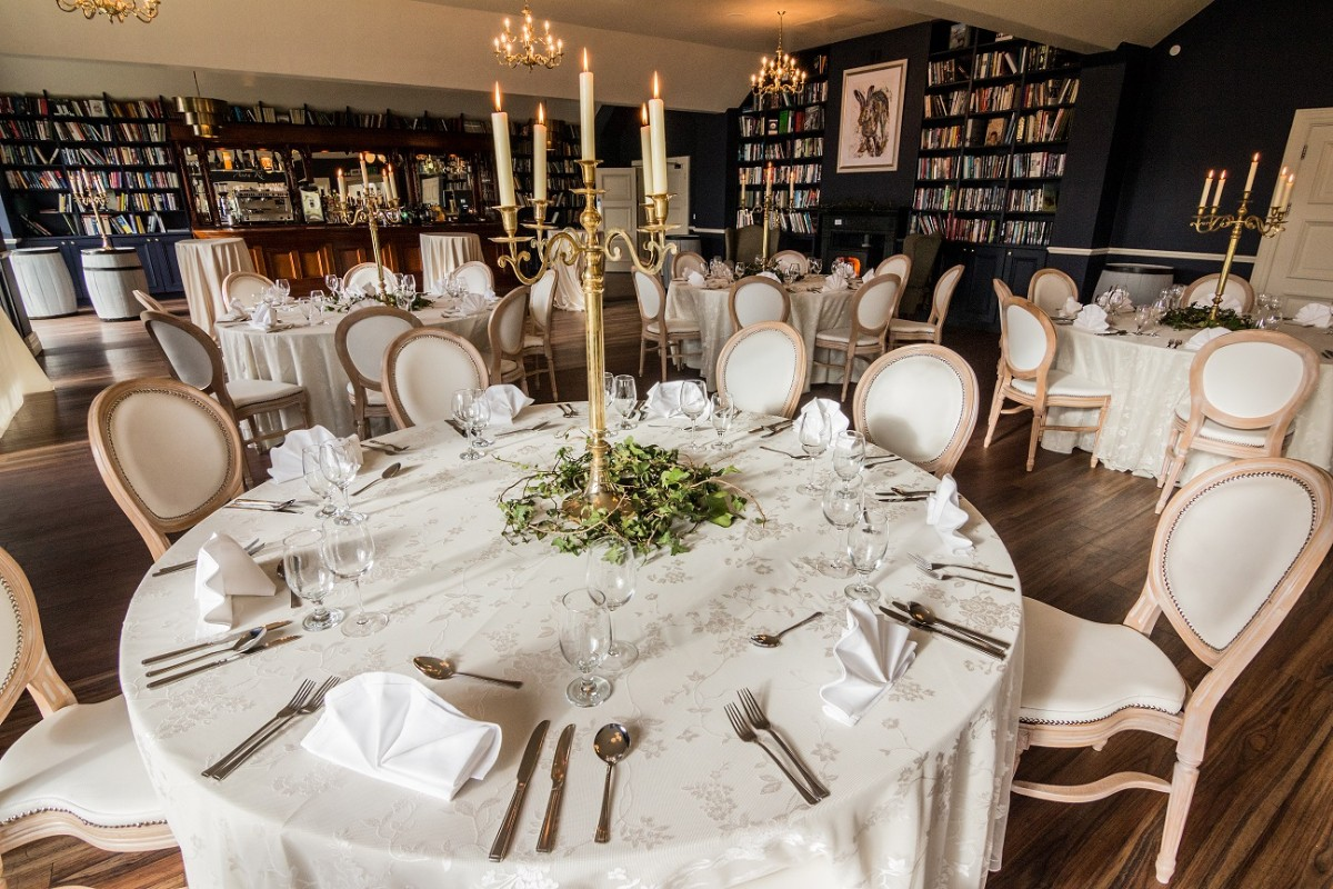 The Library Bar/Room at The Avon Lakeshore Wedding Venue