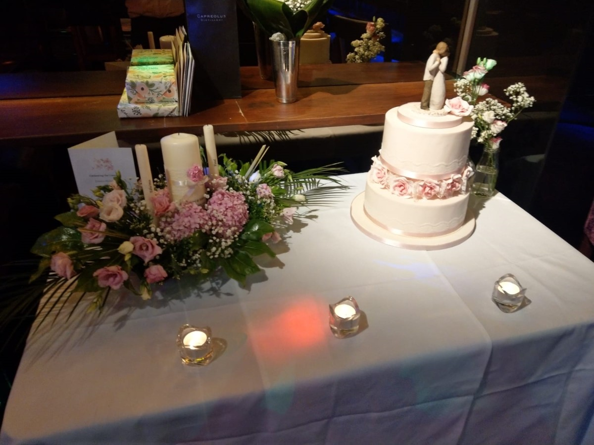 Cake table from one of our weddings
