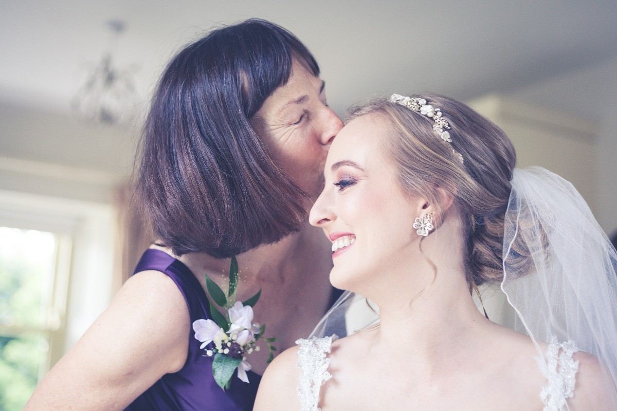 Mother of the bride seeing bride