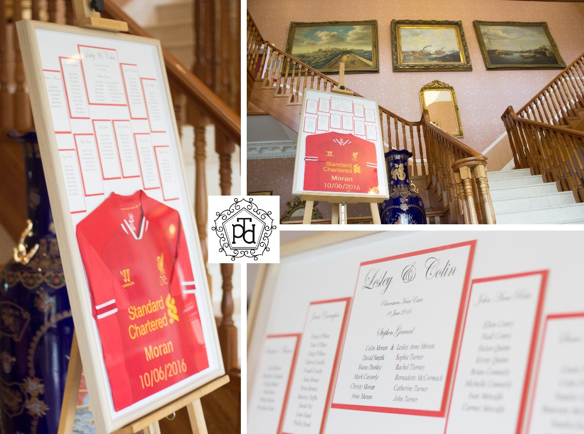 Liverpool Wedding Table Plan @ Palmerstown House Estate