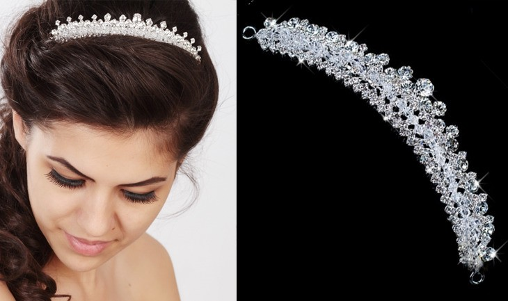 MONA Exclusive Bridal Hairband - Comb with Crystals