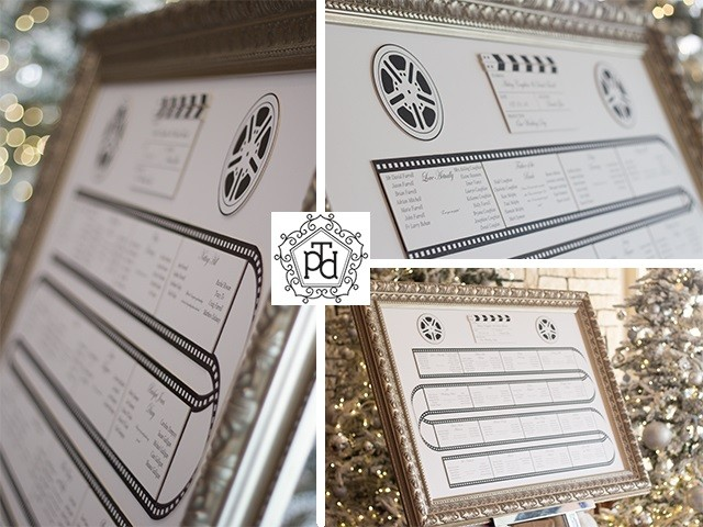 Movie Wedding Table Plan Theme