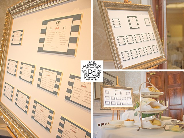 Navy Wedding Table Plan @ The Shelbourne Dublin