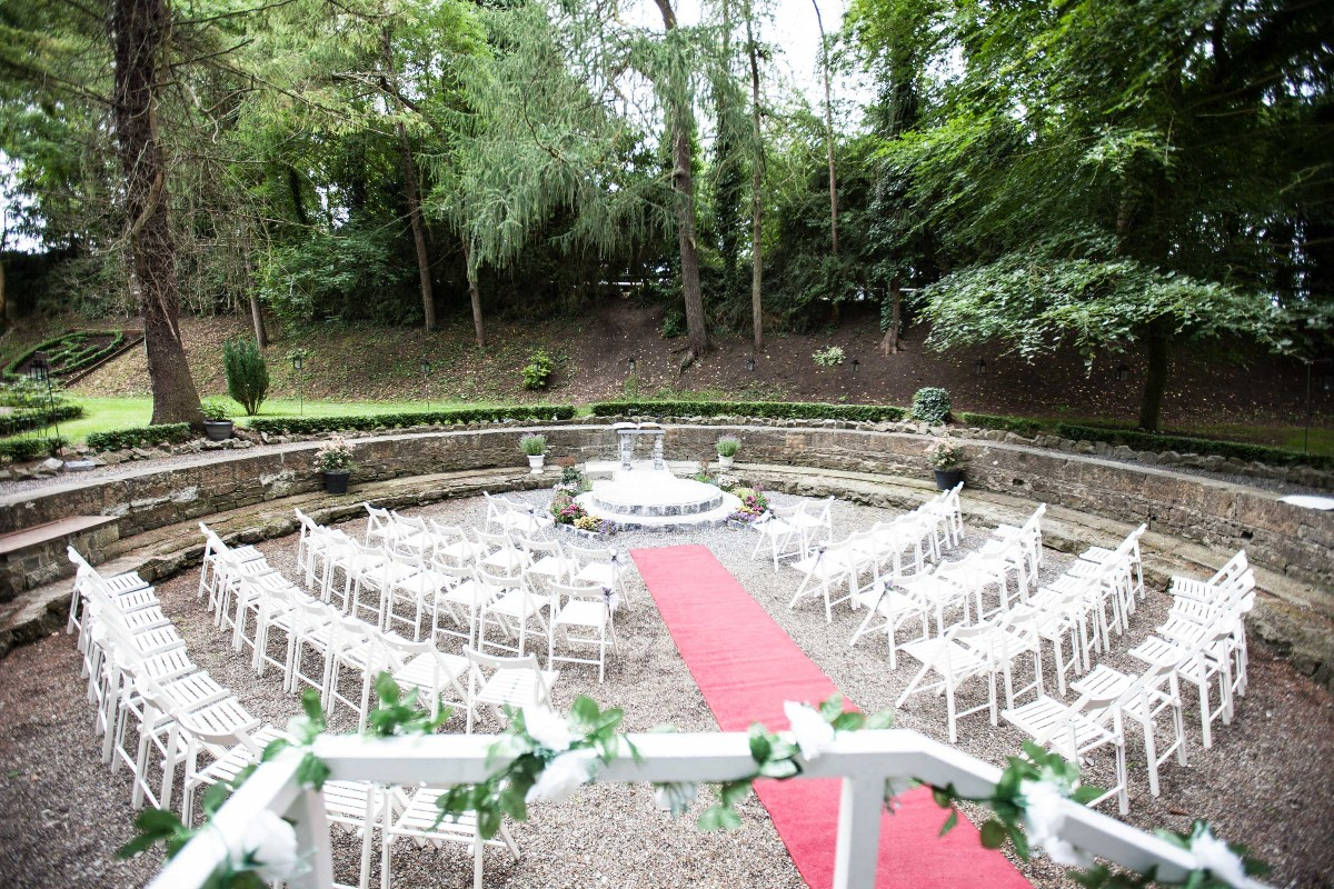Outdoor Ceremony at the original stone Turntable