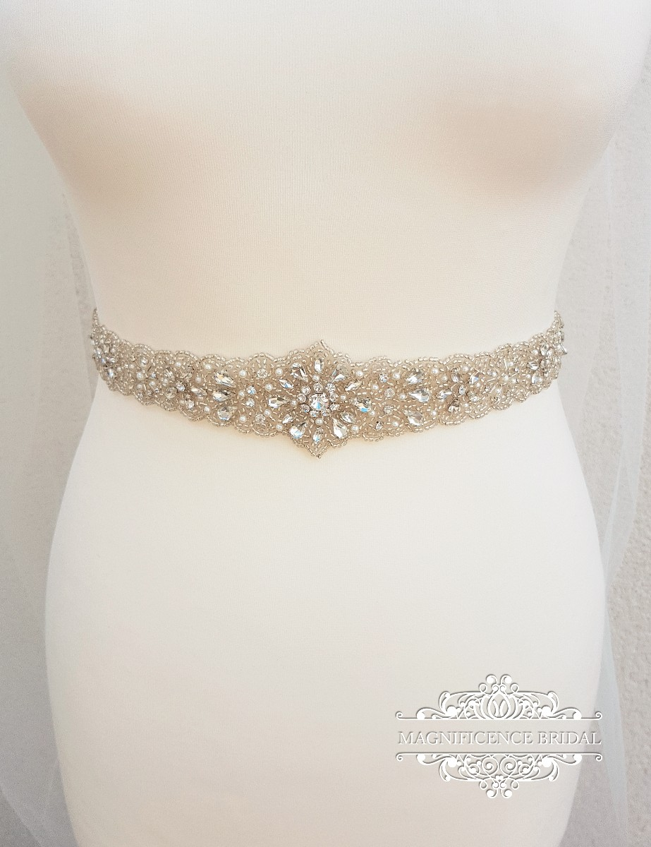 Pearl belt, all around, Bridal belt, pearl bridal belt, wedding belt, bridal sash, Beaded belt, sash belt, pearl wedding belt, ADELA