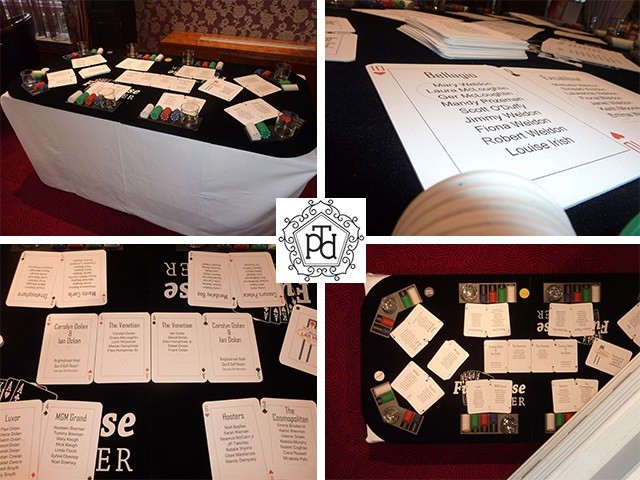 Poker Table Wedding Table Plan Theme