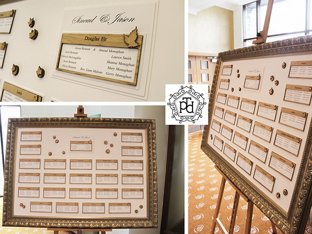 Timber Wedding Table Plan Theme