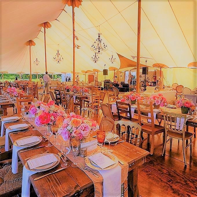Marquee Umbria wedding