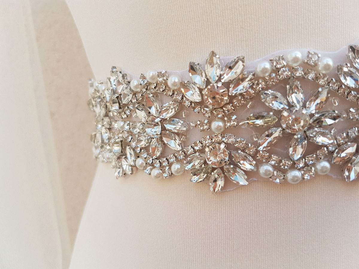 Bridal belt, wide bridal sash, wedding belt, rhinestone belt, bridal sash, wide bridal belt, diamante belt, sash belt, sparkly belt VICKI