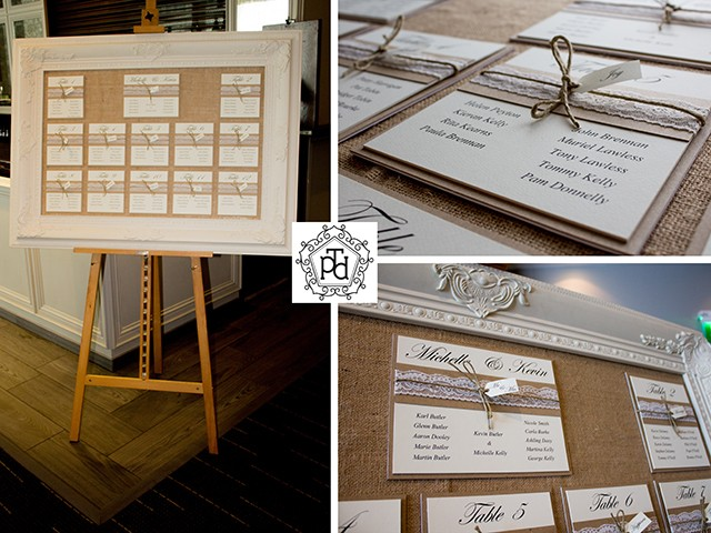 Vintage Invitation Wedding Table Plan Theme