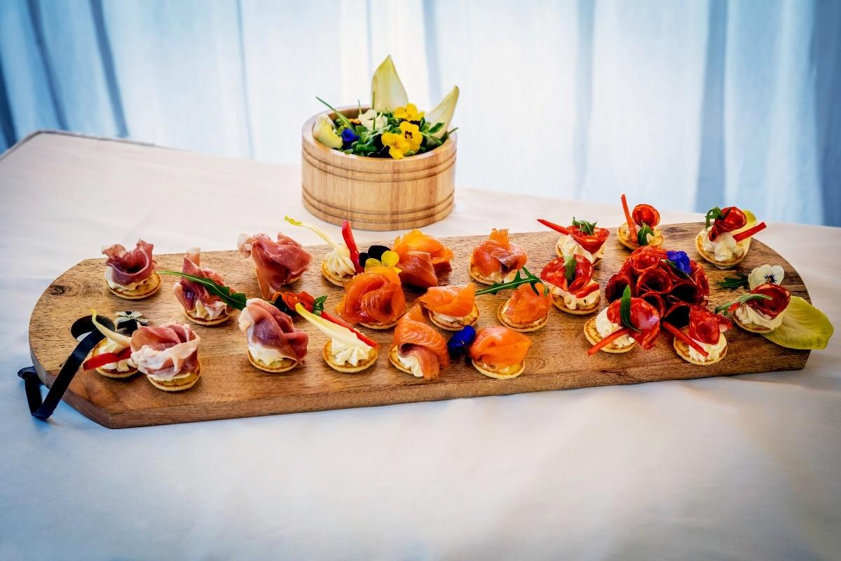 Wedding canapes and tapas